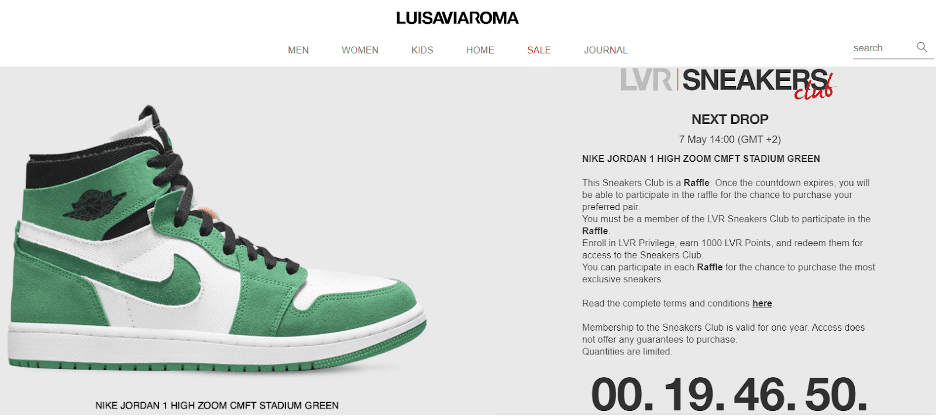 LuisaViaRoma's Sneaker Club offers insiders early access to high-end sneakers